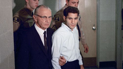 Conspiracy theorists have long argued Palestinian immigrant Sirhan B Sirhan was not responsible for Kennedy's death, instead blaming a 'second gunman'. (AAP)