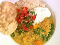 Pumpkin and Spinach Dhal