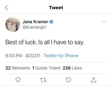 Jana Kramer tweet