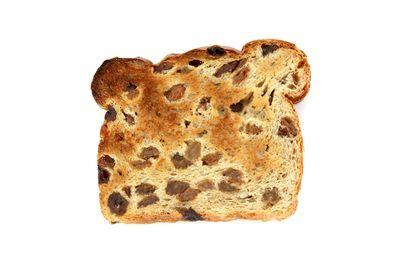 Raisin toast: 4 teaspoons of sugar