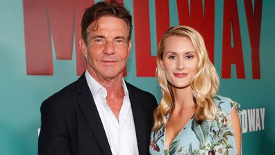 Dennis Quaid, Laura Savoie, Midway screening, Hawaii, 2019