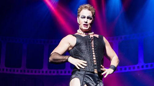 McLachlan stars in Rocky Horror Picture Show. (AAP)