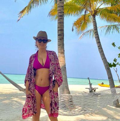 Salma Hayek sizzles in a bikini at 54