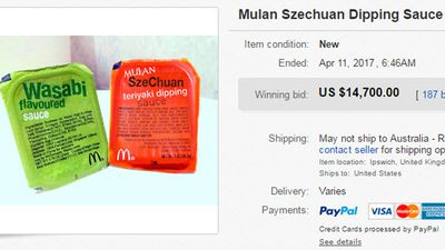 Nineteen-year-old packet of McDonalds sauce sells for $19,462 on eBay