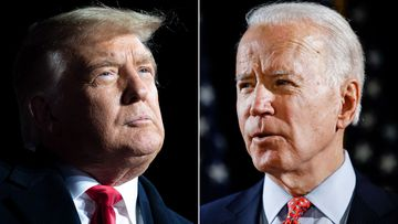 The US presidential candidates Donald Trump and Joe Biden.