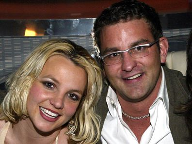 Singer Britney Spears, brother Bryan, mother Lynne, launch party, Palms Casino Resort in Las Vegas, 2006