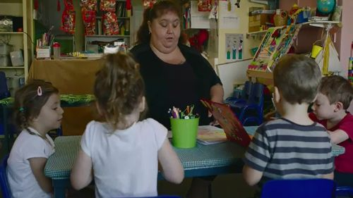 Childcare workers want a 30 per cent pay rise. (9NEWS)