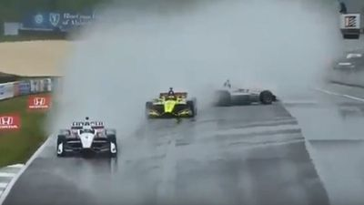 "Australia's Will Power blasts ""dangerous"" Indycar race after crash at rain-soaked Alabama"