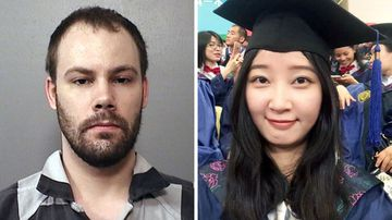Brendt Christensen and his alleged victim Yingying Zhang.