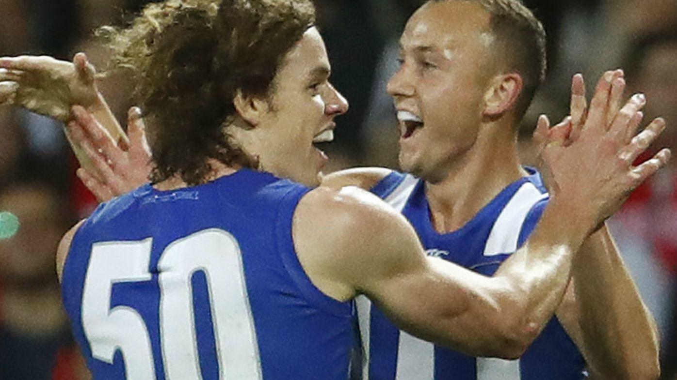 Ben Brown celebrates