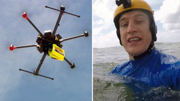 Testing the new beach rescue drones