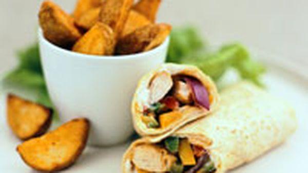 Chicken And Kidney Bean Wraps 9kitchen
