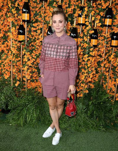 Kaley Cuoco Kaley Cuoco arrives at the 9th Annual Veuve Clicquot Polo Classic event in Los Angeles, October 6, 2018