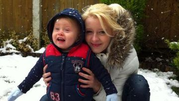 Bethany Vincent and her son Darren Henson in a 2013 photo.