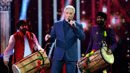 Tom Jones performs at the Royal Albert Hall. (AP)