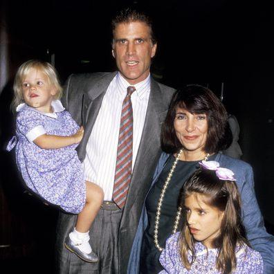Ted Danson e Casey Coates com suas filhas Alexis e Kate Danson