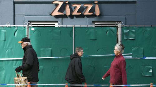 Zizzi restaurant near the area where former Russian double agent Sergei Skripal and his daughter were found critically ill following exposure to the Russian-developed nerve agent Novichok.