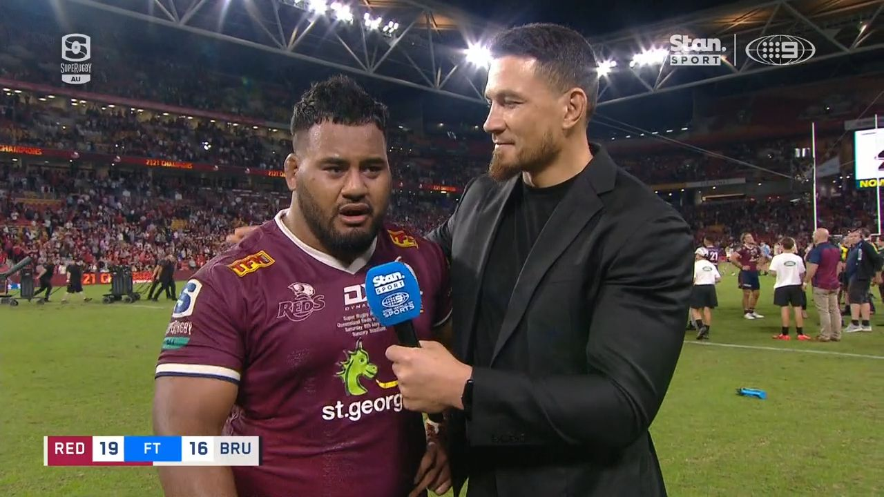 Taniela Tupou's heartbreaking Mother's Day interview after winning Super Rugby AU title