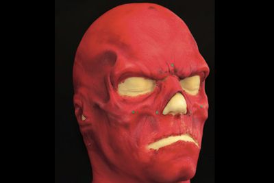 Speaking of Hugo, remember his freaky face from <i>Captain America</i>? Here's the mask in seven pieces that cover the head, ears, neck and partial chest ... for around $2000-$3000. A unique look for Halloween, perhaps?<br/>