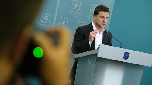 President Volodymyr Zelenskiy was asked by Donald Trump to investigate Joe Biden.