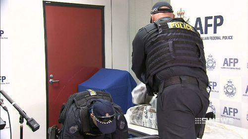 Police intercepted the alleged smuggling operation and seized a huge haul of cocaine.