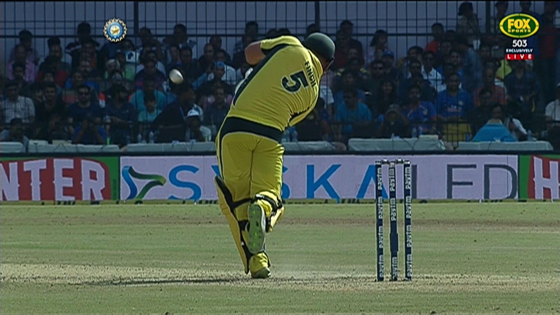 Finch belts Kumar for six