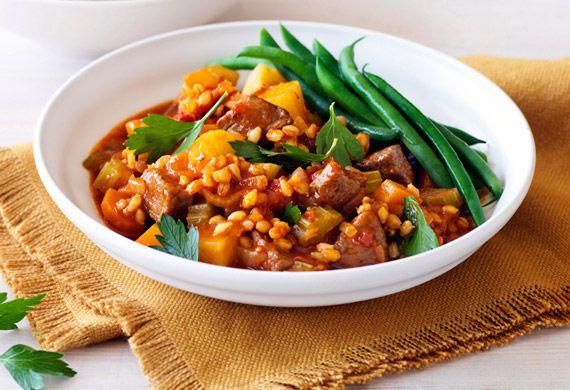 Lamb barley and rosemary stew