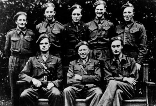 Some of the Norwegian commandos including Joachim Roenneberg who is seated, far right. (Norwegian Resistance Museum).
