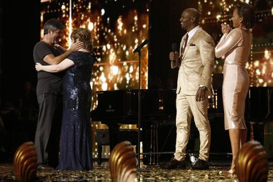 Simon Cowell, Susan Boyle, Terry Crews and Mel B on America's Got Talent: The Champions.