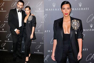 Kim cosied up to her best designer buddy Riccardo Tisci.