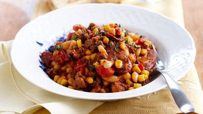 "<a href=""http://kitchen.nine.com.au/2016/05/16/15/35/mexican-bean-stew"" target=""_top"">Mexican bean stew</a>"