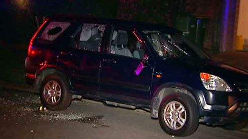 Parked cars on the street were allegedly attacked by partygoers.