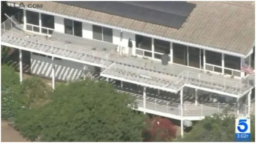 An aerial image of Kerr's Malibu mansion. (Supplied)