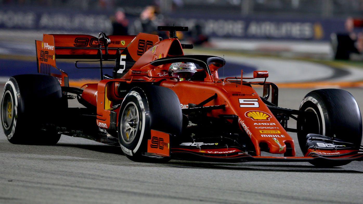 Ferrari's Sebastian Vettel claims Singapore Grand Prix win from angry teammate