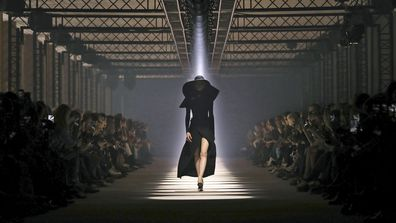 A model wears a creation for the Givenchy fashion collection during Women's fashion week Fall/Winter 2020/21 presented in Paris on March 1, 2020.