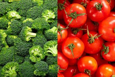 Broccoli and tomato