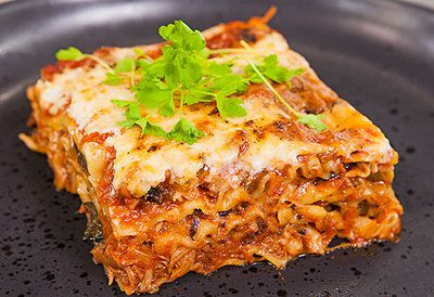 Slow-cooked duck lasagne