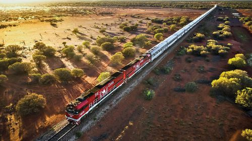 The coin pays homage to the iconic Ghan steam rail.