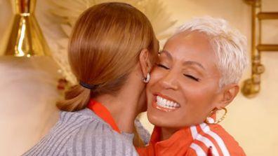Jada Pinkett Smith hugs Sheree Zampino.