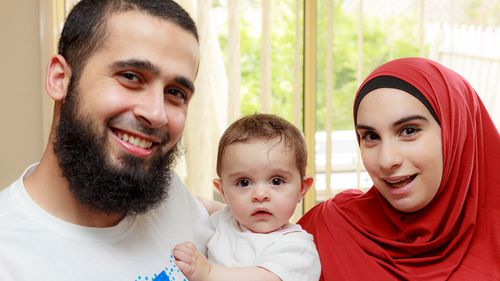 Kaled Zahab (left) and his wife Mariam Dabboussy (right) with daughter Aisha in 2014.