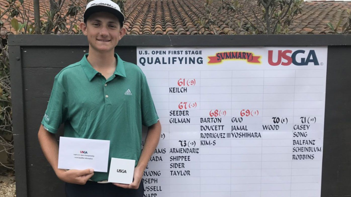 Teenager wins US Open qualifier with round of 61