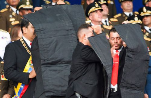 Seven military officers were injured however President Maduro was unharmed.