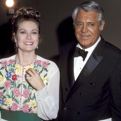 Cary Grant with Princess Grace of Monaco in 1973