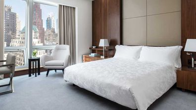 A deluxe room at The Langham in NYC