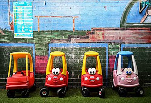 Children's toy cars in childcare centre (AAP)