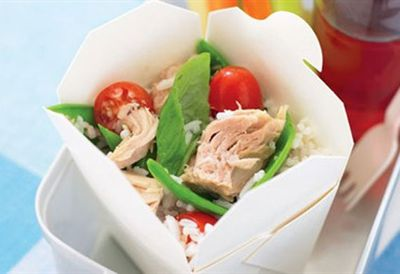 "Recipe: <a href="" /recipes/irice/8361097/basmati-rice-and-tuna-toss "" target=""_top"">Basmati rice and tuna toss</a>"