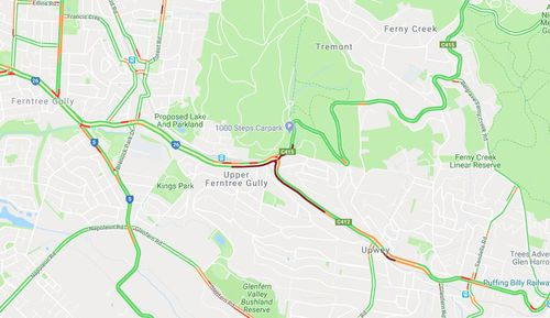 Reports indicate a truck smashed into four or five cars on the Burwood Highway