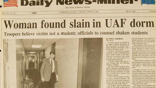 A front page of the Daily News-Miner following the 1993 death of Sophie Sergie