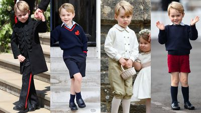 "Prince George didn't wear shorts at the Royal Wedding, May 2018<span style=""white-space: pre;"">	</span>"