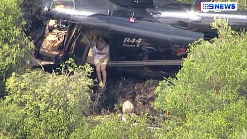 A three-year-old child has been airlifted to safety. (9NEWS)